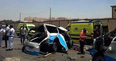 ننشر أسماء المصابين الـ 20 بحادث تصادم مينى باص و ميكروباص فى الجيزة  -