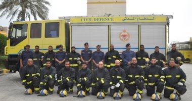 الدفاع المدنى البحرينى يخلى منازل فى قرية المصلى بسبب تسرب غاز من أحد المصانع