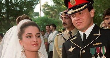 فى عيد زواجهما الـ 26.. صور نادرة لزفاف العاهل الأردنى الملك عبدالله والملكة رانيا