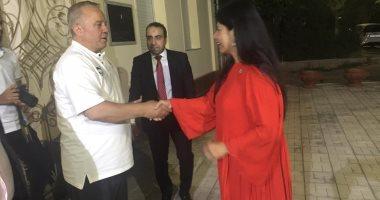 """حفلة """"شاي"""" من سفيرة مصر بأوزبكستان لبعثة المنتخب الأوليمبي"""