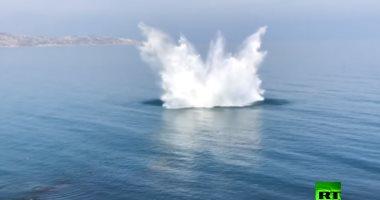 تفجير 4 قذائف تعود للحرب العالمية الثانية فى البحر الأسود.. فيديو -