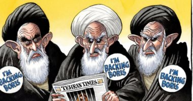 كاريكاتير التايمز.. نظام الملالى يدعم جونسون لرئاسة وزراء بريطانيا