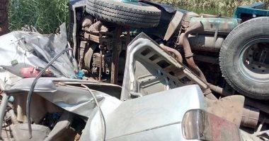 إصابة 4 أشخاص فى حادث إنقلاب سيارة ملاكى بالبحيرة