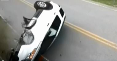 إصابة 4 أشخاص فى انقلاب سيارة ملاكى على صحراوى بنى سويف