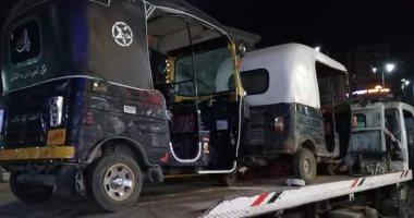 صور.. حملات مرورية ليلية لضبط المخالفين بمراكز ومدن الغربية