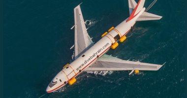 """شاهد عملية إغراق طائرة """"بوينج"""" لإنشاء منتزه تحت الماء بالبحرين"""