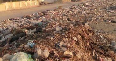 القمامة تتراكم بقرية الصديق يوسف فى البحيرة والأهالى تطالب بسرعة رفعها