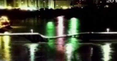 فيديو.. لحظة انهيار مروعة لجسر أعلى نهر فى مقاطعة جوانجدونج بالصين