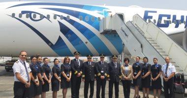 صور.. طائرة الأحلام الثالثة تصل مطار القاهرة.. وباريس أولى رحلاتها