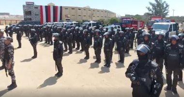 شاهد.. قوات الشرطة تنتشر بمحيط الحدائق والمتنزهات ودور السينما قبل العيد