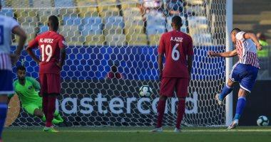 باراجواي تتقدم على قطر بالهدف المبكر فى الشوط الأول.. فيديو