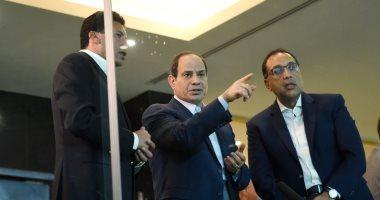 السيسى يتفقد استاد القاهرة ويطلع على أعمال التطوير والتحديث