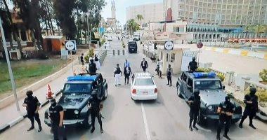 تعزيزات أمنية بمحيط برج العرب لتأمين موقعة السوبر بين الأهلى والزمالك