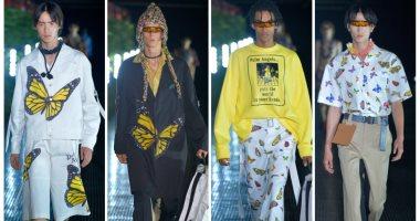 """فراشات وورد فى عرض أزياء """"بالم إنجيل"""" للرجال لربيع 2020 بميلان"""