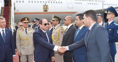 صور.. الرئيس السيسى يصل بيلاروسيا في زيارة رسمية