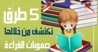فيديو معلوماتى.. 5 طرق تكتشف من خلالها صعوبات القراءة عند طفلك