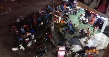 شكوى من انتشار المقاهى العشوائية فى شارع عرابى بشبرا الخيمة