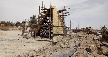 صور.. نصب تذكارى بمدينة الحسنة تخليدا لذكرى صمود أهالى سيناء فى وجه إسرائيل