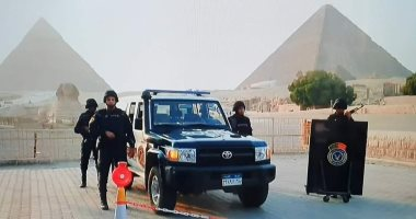 ضبط أسلحة وتنفيذ أحكام وإزالة إشغالات فى حملة بالمنطقة الأثرية بالهرم