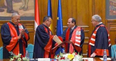 ننشر نص كلمة الرئيس السيسى بعد منحه الدكتوراه الفخرية من جامعة بوخارست