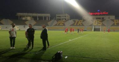 صور.. منتخب الجزائر يخوض تدريبه الأول على بتروسبورت
