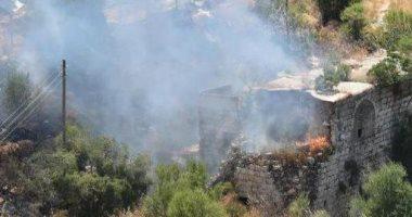 صور ..طائرة إطفاء إسرائيلية كادت ترتطم بطائرة بدون طيار فوق مدينة القدس