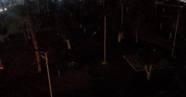 ظلام حديقة سعد زغلول ببورسعيد يزعج الأهالى