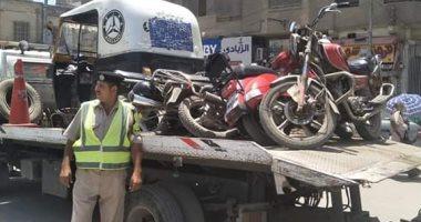 المرور يضبط 11 سيارة و دراجة بخارية متروكة فى حملات بالقاهرة