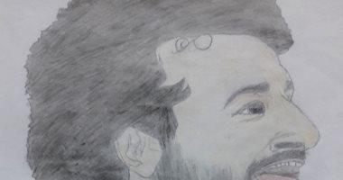 طفلان يشاركا صحافة المواطن مجموعة رسومات ومحمد صلاح بطل البورتريه
