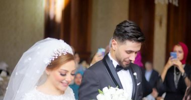 شاهد.. إسلام أبو سليمة ببدلة الزفاف مع العروسة
