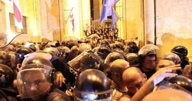 متظاهرون يحاولون اقتحام البرلمان فى جورجيا احتجاجا على زيارة وفد ورسى