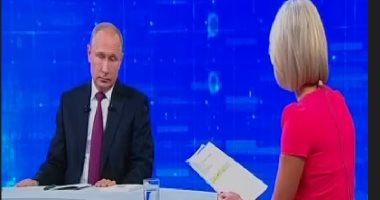 شاهد.. الرئيس الروسى بوتين يجيب على أسئلة مواطنيه عبر خط مباشر
