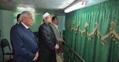 وزير الأوقاف ومحافظ الدقهلية يزورا ضريح الشيخ الشعراوى بدقادوس (صور)