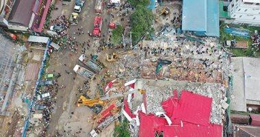 ننشر صور انهيار مبنى فى كمبوديا وعشرات المفقودين تحت الانقاض