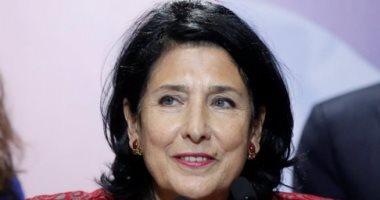 رئيسة جورجيا تدعو لوقف أعمال التصعيد وتتهم روسيا بالوقوف وراء الاضطرابات