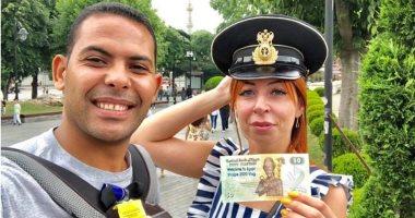 قارئ يشارك بصور دعمه للسياحة المصرية حول العالم