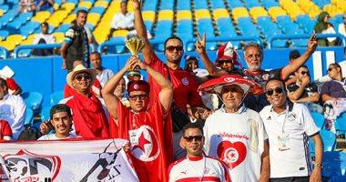 سوبر كورة.. شاهد هتافات جماهير تونس لشهداء الأهلي أثناء لقاء أنجولا