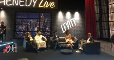 شاهد.. مؤتمر محمد هنيدى بدبى للإعلان عن أول ستاند أب كوميدى هيلف العالم