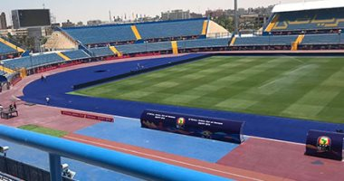 استاد السويس يتزين لاستقبال مباريات المجموعة الخامسة بكأس الأمم