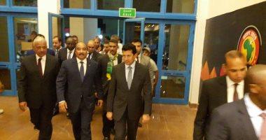 رئيس موريتانيا يصل استاد السويس لمؤازرة فريقه أمام مالي