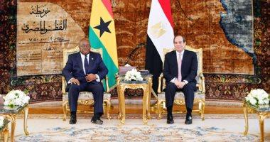تفاصيل لقاءات السيسي برئيس غانا ومفوض الاتحاد الأوروبي لشئون الهجرة.. فيديو