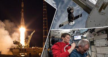 """فيديو وصور.. تفاصيل عودة Soyuz MS-11 بعد 204 أيام فى الفضاء واختبارها 3664 مدارا .. رقم قياسى للرائدة آن ماكلين فى أول رحلة .. ديفيد جاك صاحب أطول رحلة فضاء كندية .. و""""أوليج"""" يحتل المركز الـ6 برصيد 737 يومًا"""