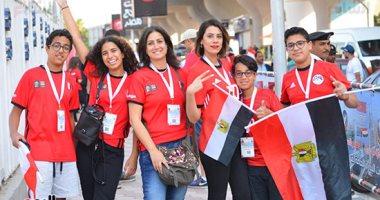 صور.. الجنس الناعم والأطفال يزينان استاد القاهرة قبل مباراة مصر والكونغو