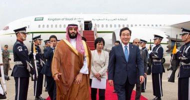 ولى العهد السعودى يصل سول لعقد قمة مع الرئيس الكورى الجنوبى