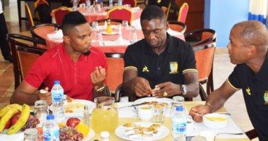 إيتو يدعم نجوم منتخب الكاميرون قبل موقعة غانا فى أمم أفريقيا.. صور