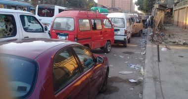 موقف عشوائى بمحطة ناصر فى شارع بور سعيد يزعج المواطنين
