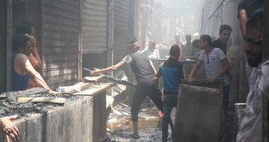 السيطرة على حريق بجراج سيارات وورشة نجارة بشبرا الخيمة