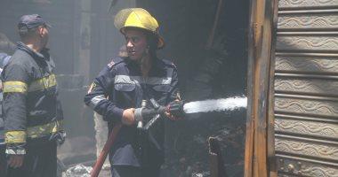 السيطرة على حريق داخل محطة مياه فى التبين دون اصابات