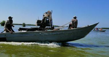 ضبط مخالفات وإزالة تعديات ببحيرة البرلس ونهر النيل بكفر الشيخ