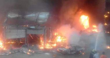 التحريات: حريق محل ملابس البدرشين نجم عن ماس كهربائى ولا شبهة جنائية